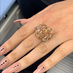 Swarovski flower ring